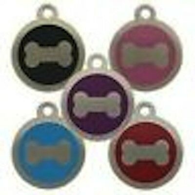 Stainless Steel Bone Pet Tag 32mm Several Colours  Free Engraving By Melian