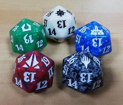 MTG Magic the Gathering Random 'Set Symbol' D20 Dice Spin Down Dice Counter x 1