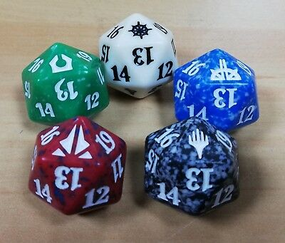 Magic the Gathering 'Set Branded' MTG - 1 D20 Dice Spin Down Dice Counter