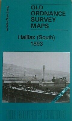 Old Ordnance Survey Map Halifax South 1893 Coloured Edition Godfrey Edition New