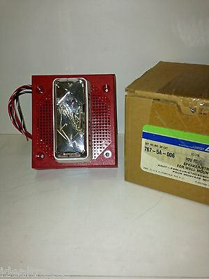 EDWARDS EST 767-5A-006 SPEAKER/STROBE FOR WALL MOUNTiNG, 70V RMS, RED **NEW*