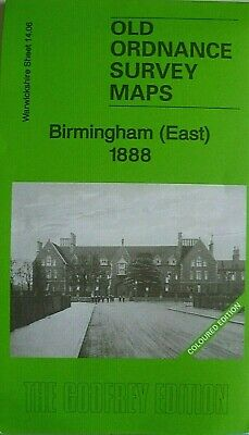 Old Ordnance Survey Maps Birmingham East Coloured Edition  1888 Godfrey Edition