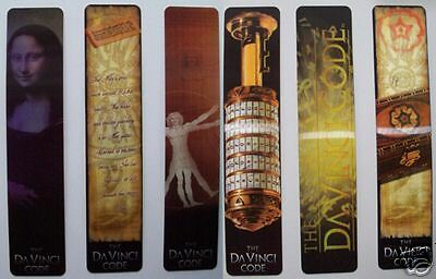 The Da Vinci Code Bookmarks Set Of 6