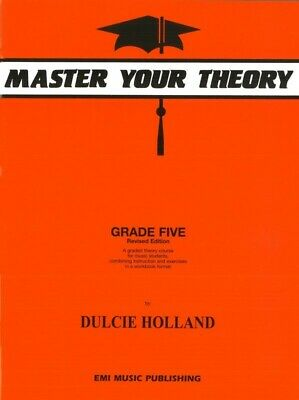 Master Your Theory Grade 5 Book by Dulcie Holland *Latest Edition* Five