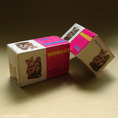 WADE - WHIMSIES Series 2 - Set 5 - Squirrel - Storage Box - No 21 - Box Only