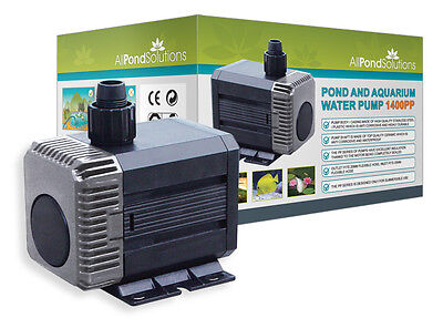 Submersible Aquarium Water Pump 1400L/H New All Pond Solutions 1400PP