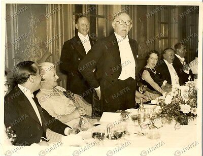 1935 ca LONDON James Henry THOMAS Segretario di Stato ad una cena di gala *Foto