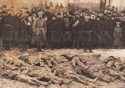 1919 ESTONIA Liberation WAR Dead By REDS Fighters of WHITE ARMY and CIVILIANS