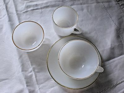 Arcopal cups and saucer 3 CUPS and  1 SAUCER   French Vintage