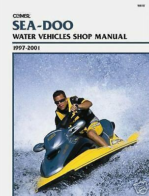 clymer repair manual sea doo watercraft 1997 2001 28 95 picclick rh picclick com Seadoo Rxdi Specs 2002 Sea-Doo RX