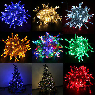 10M 100 LED Christmas Party String Light Fairy For Xmas Wedding Connectable New