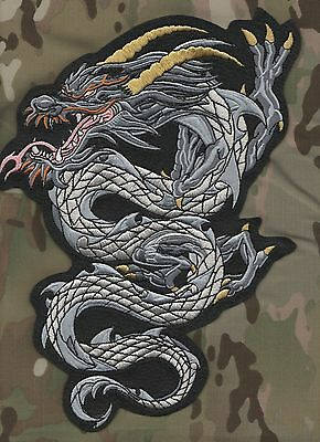 "CAFÉ RACER ROCKERS 59 TON-UP BOYS BIKER LARGE BACK PATCH: 11"" Gold-Horns Dragon"
