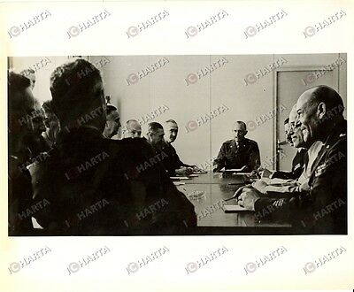 1952 BRUXELLES? Alfred GRUENTHER of SHAPE presides nine NATO countries meeting