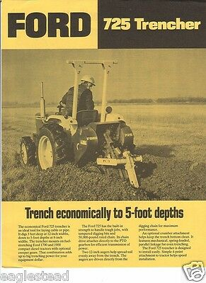 Equipment Brochure - Ford - 725 - Trencher - c1982 (EB375)