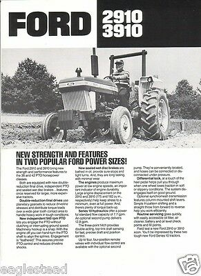 Farm Tractor Brochure - Ford - 2910 3910 - 1983 (FB315)