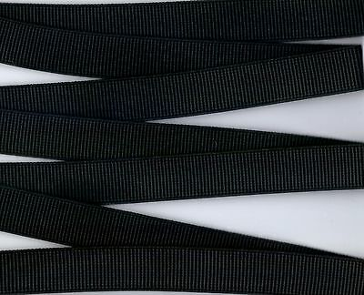 Ribbed Non Roll Elastic Black 25Mm Wide Premium Quality Per Meter Sewing Craft