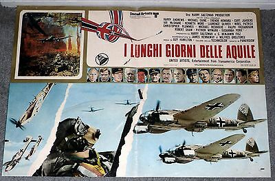 THE BATTLE OF BRITAIN original rare movie poster RAF SPITFIRES/GERMAN HEINKELS