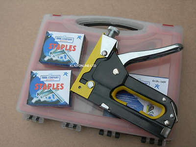 Heavy Duty 3 In 1 Staple Stapler Gun Tacker Upholstery