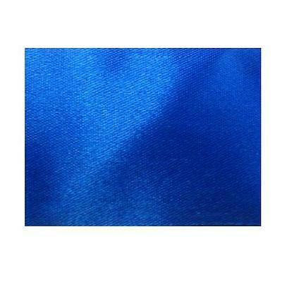 Royal Blue Satin Blanket Binding One Meter X 72Mm Folded 100% Acetate Quilts