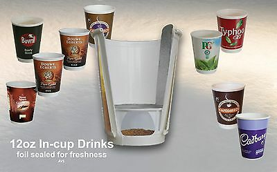 12oz Fresh Seal in cup drinks full range vending catering Nescafe 2GO incup x150