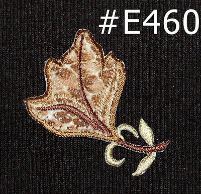 1PC~ANIMAL PRINT LEAF~IRON ON EMBROIDERY APPLIQUE PATCH