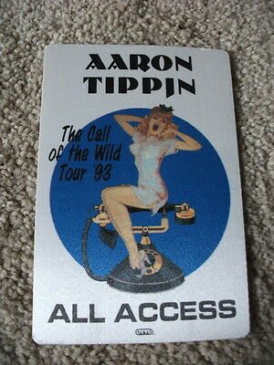 Aaron Tippin Call of the Wild  Tour Backstage Concert  Pass 93 All Access