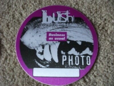 Bush Business As Usual Photo  Backstage Concert  Pass Pink