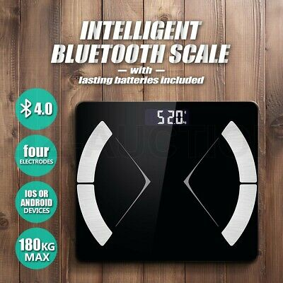 Maxkon Digital Body Fat Weight Scale Smart Bluetooth Bathroom Gym Water Glass