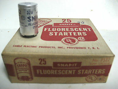 * NEW LOT OF 24 - SNAPIT FLUORESCENT STARTERS No. FS-12  32w.         YG-17