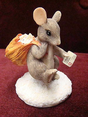 Charming Tails By Dean Griff  Silvestri Mail Mouse Figurine 87573~ Cute New Rare