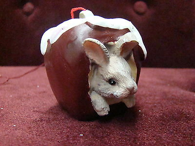Charming Tails By Dean Griff  Silvestri Rabbit In Apple 86789A~ Rare New Fresh