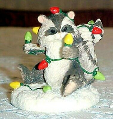 Charming Tails By Dean Griff Testing The Lights Fig~ Christmas Cute Rare New