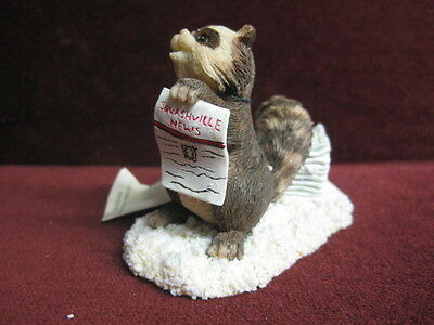 Charming Tails Extra! Extra! Figurine 87590 Dean Griff~ Cute New Factory Fresh
