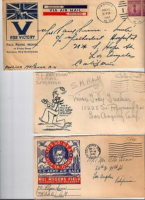 WW2 Patriotic US Covers *COLLECTION - 3 ITEMS* 1940's