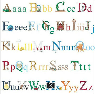 alphabet letters wall stickers 73 colorful decals school room decor nursery abc