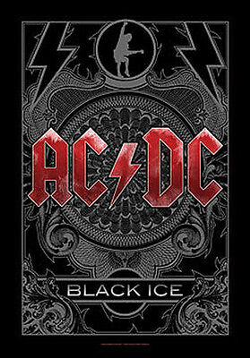 "AC/DC ""BLACK ICE"" Fabric Poster Oversize 30""X40"" Poster NEW"