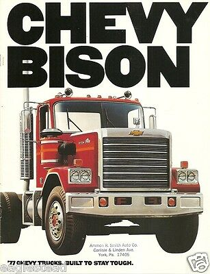 Truck Brochure - Chevrolet - Chevy Bison - 1977 Model Year (TB43)
