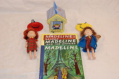"""""""8"""" Madeline And Danielle Dolls Plus Dollhouse Tin And Books"""""""