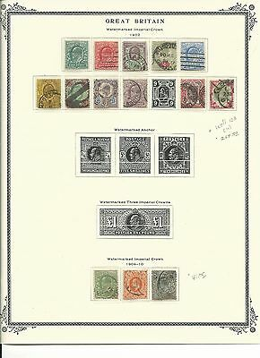 Great Britain Collection 1902 to 1910 on Scott Pages, SCV $310+
