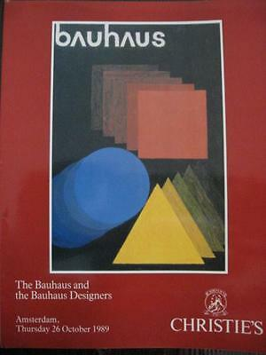 Christie's Bauhaus Art Auction Art Catalogue 1989 Amsterdam