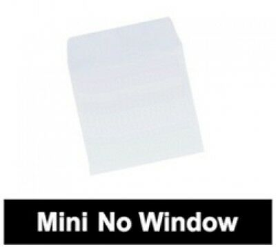 5000 Mini Paper CD Sleeves with Flap (No Window)