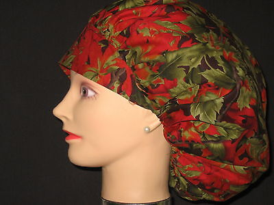Surgical Scrub Hats Caps Changing Leaves Fall Autumn
