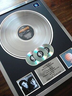 Tears For Fears Songs From The Big Chair Lp Multi Platinum Disc Record Award