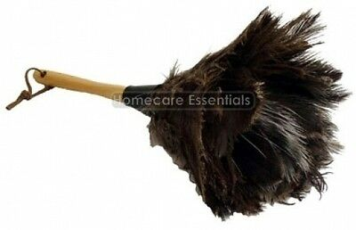 High Quality Genuine Ostrich Feather Duster 15 inch including Wooden Handle