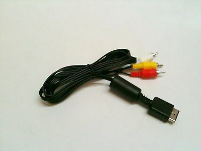 AV Audio Video Composite RCA TV Cable Cord Metal Plated Tip Playstation 3 PS3