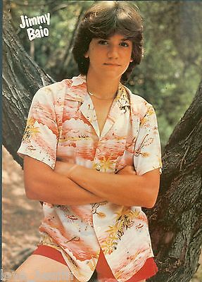 "JIMMY BAIO - wearing red SHORTS - TEEN BOY ACTOR -11""x8"" - MAGAZINE POSTER PINUP"