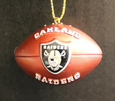 Oakland Raiders NFL Licensed League Ornament Resin Football Team Holiday Tree