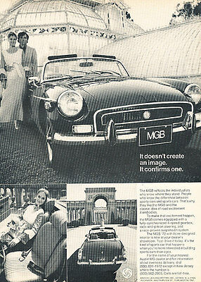 1972 MG MGB - Image - Classic Vintage Advertisement Ad D147
