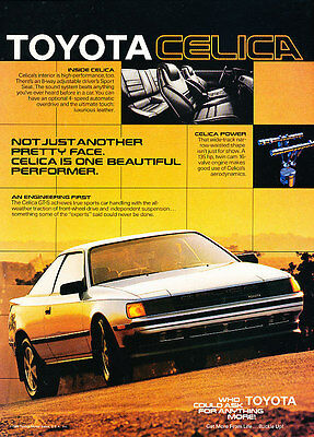 1986 Toyota Celica - Inside - Classic Vintage Advertisement Ad D151
