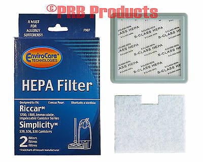HEPA Allergen Filter Set Fits Riccar Canister Vacuum 1800 1700 model Impeccable